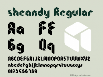 sheandy Regular Version 1.00 August 29, 2014, initial release Font Sample