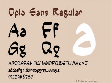 Oplo Sans Regular Version 1.00 July 19, 2014, initial release Font Sample