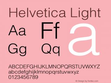 Helvetica Light Version 001.003 Font Sample