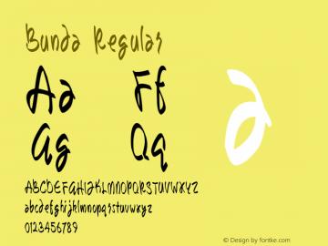Bunda Regular Version 1.00 September 12, 2014, initial release图片样张