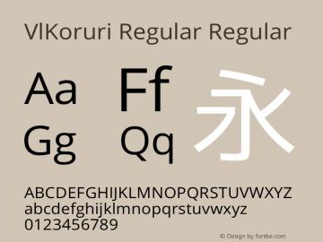 VlKoruri Regular Regular VlKoruri-20140915 Font Sample