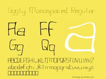Uggly Monospaced Font,punk Font|Uggly Monospaced 1 0
