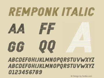 REMPONK Italic Version 1.00 October 7, 2014, initial release Font Sample