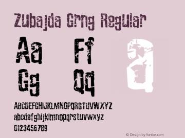 Zubajda Grng Regular Version 4.002 2012 Font Sample
