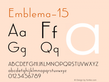 Emblema-15 ☞ Version 1.000 2014 initial release;com.myfonts.corradine.emblema.15.wfkit2.4cG2 Font Sample