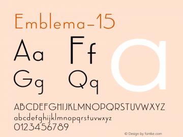 Emblema-15 ☞ Version 1.000 2014 initial release;com.myfonts.corradine.emblema.15.wfkit2.4cG2 Font Sample
