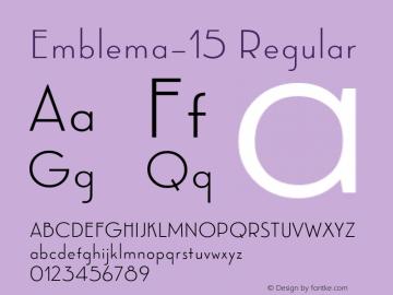 Emblema-15 Regular Version 1.000 2014 initial release;com.myfonts.easy.corradine.emblema.15.wfkit2.version.4cG2 Font Sample