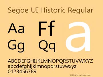 Segoe UI Historic Regular Version 0.90图片样张