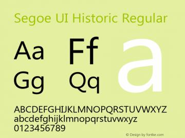Segoe UI Historic Regular Version 1.00图片样张