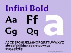 Infini Bold Version 1.003;PS 1.3;hotconv 1.0.72;makeotf.lib2.5.5900图片样张