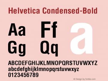 Helvetica Condensed-Bold Version 001.005 Font Sample