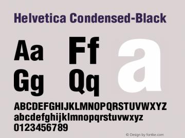 Helvetica Condensed-Black Version 003.000 Font Sample