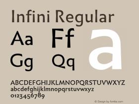 Infini Regular Version 1.003;PS 1.3;hotconv 1.0.72;makeotf.lib2.5.5900图片样张