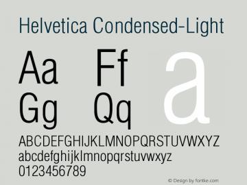 Helvetica Condensed-Light Version 003.000 Font Sample