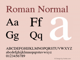 Roman Normal 1.000 Font Sample
