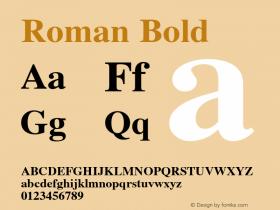 Roman Bold 1.000 Font Sample