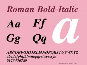 Roman Bold-Italic 1.000 Font Sample