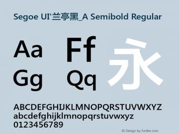 Segoe UI'兰亭黑_A Semibold Regular Version 5.12图片样张