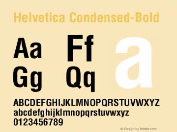Helvetica Condensed-Bold Version 003.001 Font Sample