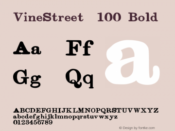VineStreet  100 Bold Version 001.000 ;com.myfonts.proportional-lime.vine-street.bold.wfkit2.3FH5图片样张