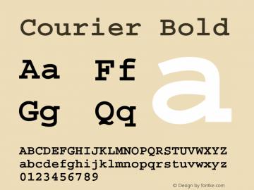 Courier Bold Version 1.3 (Hewlett-Packard) Font Sample
