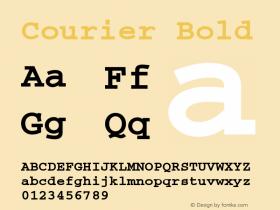 Courier Bold 1998; 1.2 Font Sample