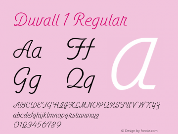 Duvall 1 Regular com.myfonts.easy.john-moore.duvall.1.wfkit2.version.47ZW Font Sample