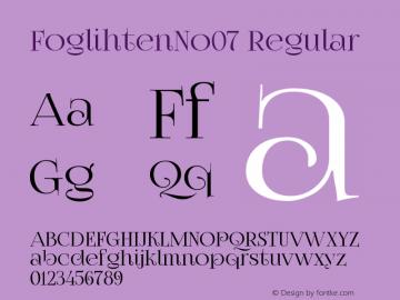 FoglihtenNo07 Regular Version 0.82 Font Sample