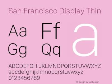 San Francisco Display Thin 10.0d46e1 Font Sample