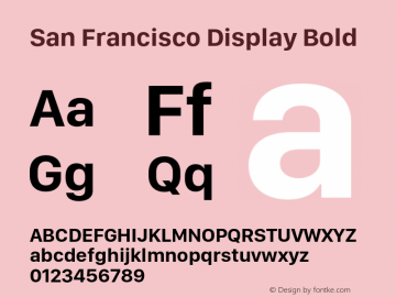 San Francisco Display Bold 10.0d46e1 Font Sample