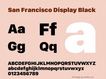 San Francisco Display Black 10.0d46e1 Font Sample