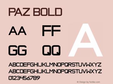 Paz Bold Version 1.000;com.myfonts.easy.sudtipos.paz.bold.wfkit2.version.3aMU Font Sample