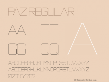 Paz Regular Version 1.000;com.myfonts.easy.sudtipos.paz.thin.wfkit2.version.3aMS Font Sample