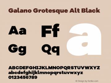 Galano Grotesque Alt Black Version 1.000 Font Sample