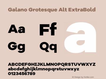 Galano Grotesque Alt ExtraBold Version 1.000 Font Sample