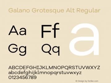 Galano Grotesque Alt Regular Version 1.000 Font Sample