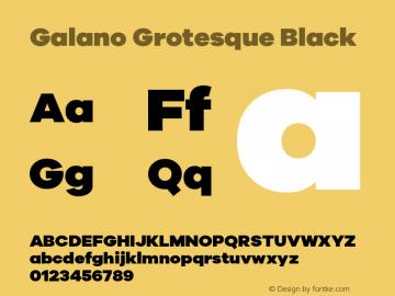 Galano Grotesque Black Version 1.000 Font Sample