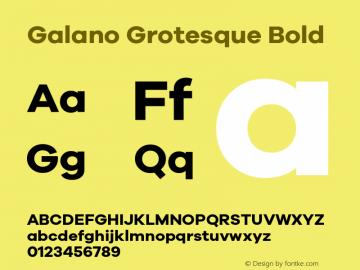 Galano Grotesque Bold Version 1.000 Font Sample