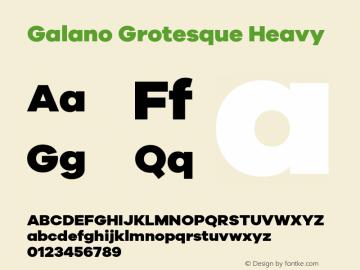 Galano Grotesque Heavy Version 1.000 Font Sample