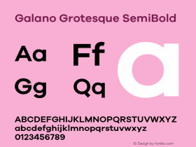Galano Grotesque SemiBold Version 1.000 Font Sample