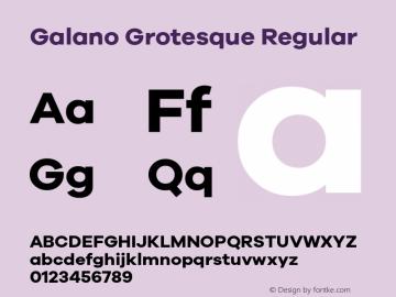 Galano Grotesque Regular Version 1.000;PS 001.000;hotconv 1.0.70;makeotf.lib2.5.58329;com.myfonts.easy.rene-bieder.galano-grotesque.bold.wfkit2.version.4kJE Font Sample