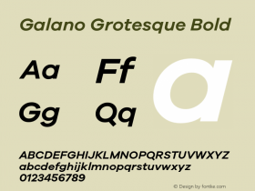 Galano Grotesque Bold Version 1.000;PS 001.000;hotconv 1.0.70;makeotf.lib2.5.58329;com.myfonts.easy.rene-bieder.galano-grotesque.semi-bold-italic.wfkit2.version.4kJS Font Sample