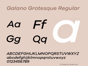 Galano Grotesque Regular Version 1.000;PS 001.000;hotconv 1.0.70;makeotf.lib2.5.58329;com.myfonts.easy.rene-bieder.galano-grotesque.medium-italic.wfkit2.version.4kJQ Font Sample