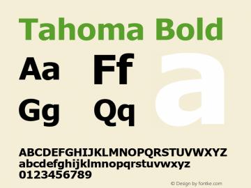 Tahoma Bold Version 2.60 Font Sample