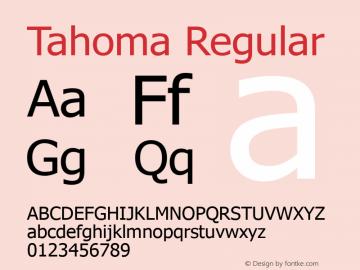 Tahoma Regular Version 2.80 Font Sample