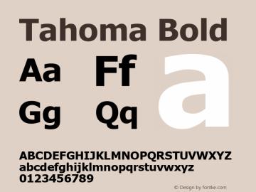 Tahoma Bold Version 3.00 Font Sample