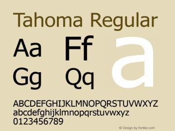 Tahoma Regular Version 3.06 Font Sample