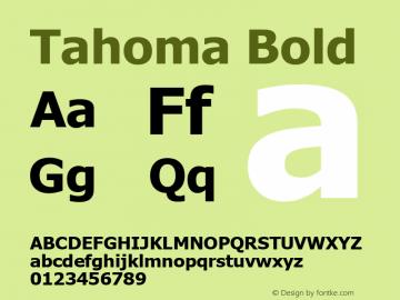 Tahoma Bold Version 3.14 Font Sample