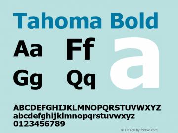 Tahoma Bold Version 3.19 Font Sample