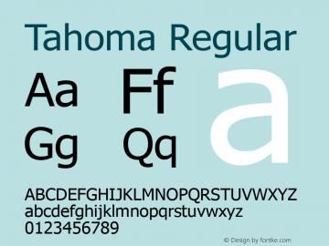 Tahoma Regular Version 3.19 Font Sample